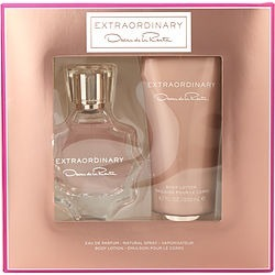 EXTRAORDINARY by Oscar de la Renta SET-EAU DE PARFUM SPRAY 3 OZ & BODY LOTION 6.7 OZ for WOMEN