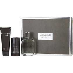 KENNETH COLE MANKIND by Kenneth Cole SET-EDT SPRAY 3.4 OZ & AFTERSHAVE BALM 3.4 OZ & DEODORANT STICK ALCOHOL FREE 2.6 OZ for MEN