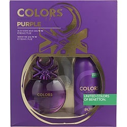 COLORS DE BENETTON PURPLE by Benetton SET-EDT SPRAY 2.7 OZ & DEODORANT SPRAY 5 OZ for WOMEN found on Bargain Bro Philippines from fragrancenet.com for $22.99