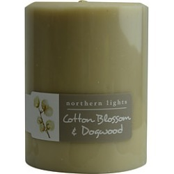 COTTON BLOSSOM & DOGWOOD ONE 3x4 inch PILLAR CANDLE. BURNS APPROX. 80 HRS. for UNISEX found on Bargain Bro India from fragrancenet.com for $19.99