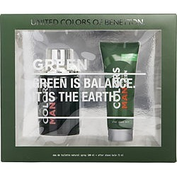 COLORS DE BENETTON GREEN by Benetton SET-EDT SPRAY 3.4 OZ & AFTERSHAVE BALM 2.5 OZ for MEN found on Bargain Bro from fragrancenet.com for USD $26.59