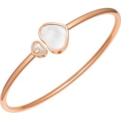 Chopard 18ct Rose Gold Pearl Happy Heart Diamond Bangle found on Bargain Bro UK from Fraser Hart