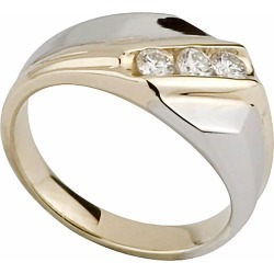 Men's 9ct two colour gold 0.25 carat diamond ring found on Bargain Bro UK from Fraser Hart