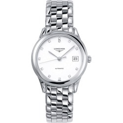 Longines Flagship automatic diamond-set dial stainless steel bracelet watch found on MODAPINS from Fraser Hart for USD $1590.63