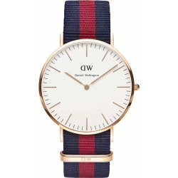 Daniel Wellington Classic Oxford men's rose gold-plated and NATO strap watch found on MODAPINS from Fraser Hart for USD $181.33