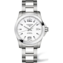 Longines Conquest men's automatic white dial stainless steel bracelet watch found on MODAPINS from Fraser Hart for USD $1274.28
