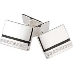 Silver and cubic zirconia cufflinks found on Bargain Bro UK from Fraser Hart