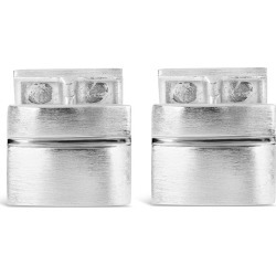 Silver rectangular polished cufflinks found on Bargain Bro UK from Fraser Hart