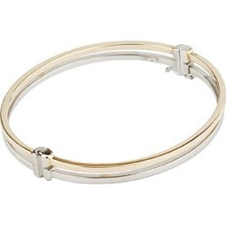 9ct two colour gold bangle found on Bargain Bro UK from Fraser Hart