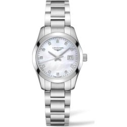 Longines Performance Conquest Classic 30mm Mother of Pearl Dial Steel Bracelet Ladies Watch found on MODAPINS from Fraser Hart for USD $1537.72