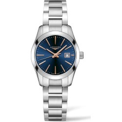 Longines Performance Conquest Classic 30mm Blue Dial Steel Bracelet Watch found on MODAPINS from Fraser Hart for USD $1029.85