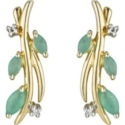 9ct gold emerald and diamond earrings found on Bargain Bro UK from Fraser Hart