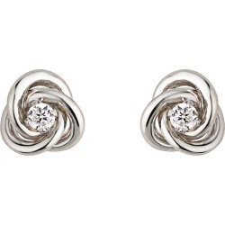 9ct white gold cubic zirconia knot earrings found on Bargain Bro UK from Fraser Hart