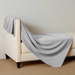 Frette Status Throw - Light Grey - One Size