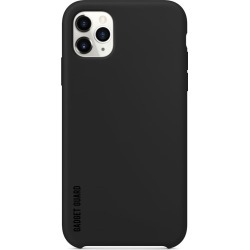 Essentials  Bundle  for  iPhone  11  Pro  Max:  Black  Silicone  Case  and  Black  Ice  Tempered  Glass  Screen  Protector