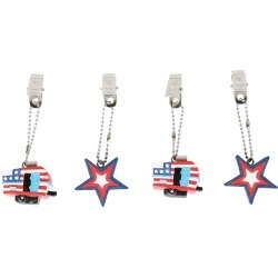 Patriotic Tablecloth Weights, Set of 4