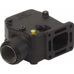 "Riser Elbow 15°, 3"" hose; Mercruiser V6 & V8 Manifolds With Center Risers"