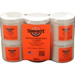 Tannerite Exploding Rifle Targets, Brick, 4-Pack of 1-lb. Targets