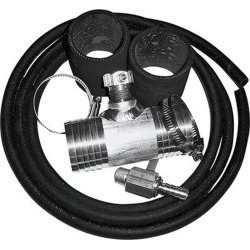 """Diesel Install Kit for Auxiliary and Transfer Fuel Tanks, Fits Chevy and GMC Trucks up thru 2010 with 2"""" fuel fill hoses"""