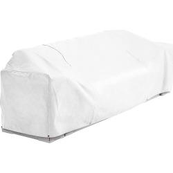 White Vinyl Pontoon Boat Lounge Seat Cover