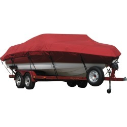 Exact Fit Covermate Sunbrella Boat Cover for Stratos 385 Xf 385 Xf W/Port Minnkota Troll Mtr Strb Console O/B. Red found on Bargain Bro Philippines from Gander Mountain for $528.99