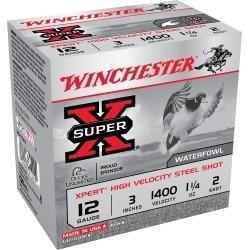 "Winchester Xpert High Velocity Steel Shot, 12-ga, 3"", 1-1/4 oz, #2"