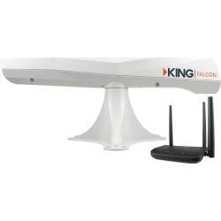KING Falcon™ Directional Wi-Fi Antenna with KING Wi-Fi Router/Range Extender, White
