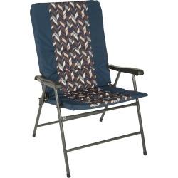 Zig Zag Padded Folding Chair, Blue