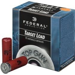 "Federal Top Gun Shotshell Target Loads, 12-Ga, 2-3/4"", 1-1/8 oz, #8, 1145 fps"