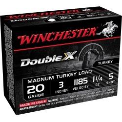 "Winchester Double X Turkey Loads, 20-ga, 3"", 1-1/4 oz, #5"