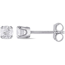 1/3 Carat (ctw Color I-J, Clarity I2-I3) Diamond Solitaire Stud Earrings in 14K White Gold found on Bargain Bro India from gem and harmony for $299.00