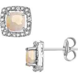 Created Opal Earrings with Diamonds in Sterling Silver found on Bargain Bro Philippines from gem and harmony for $69.95
