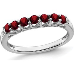 1/2 Carat (ctw) Natural  Garnet Ring Band in Sterling Silver