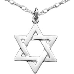 Sterling Silver Star of David Pendant Necklace with Chain