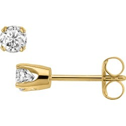 Solitaire Stud Diamond Earrings 1/6 Carat (ctw Color H-I, Clarity I2-I3) in 14K Yellow Gold found on Bargain Bro Philippines from gem and harmony for $89.95