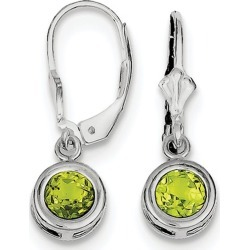 Peridot Drop Earrings 1.80 Carat (ctw) in Sterling Silver found on Bargain Bro India from gem and harmony for $84.95