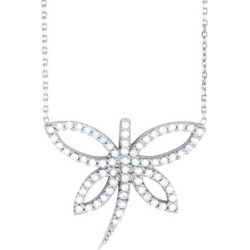 Synthetic Crystal Dragonfly Pendant Necklace in Sterling Silver found on Bargain Bro Philippines from gem and harmony for $19.95