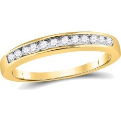 Diamond Wedding Band and Anniversary Ring 1/4 Carat (ctw Color H-I Clarity I1-I2) in 14K Yellow Gold