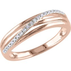 Diamond Crossover Ring in Rose Sterling Silver found on Bargain Bro Philippines from gem and harmony for $59.95