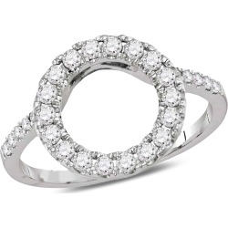 1/2 Carat (ctw Color I-J Clarity I2-I3) Diamond Circle Ring in 14K White Gold found on Bargain Bro India from gem and harmony for $649.00