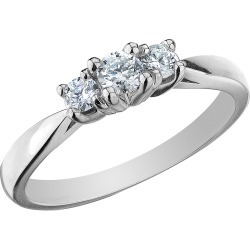 Diamond Three Stone Anniversary Ring 1/4 Carat (ctw) in 10K White Gold found on Bargain Bro Philippines from gem and harmony for $269.00