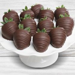 Dark Chocolate Covered Strawberries - 12 Strawberries found on Bargain Bro Philippines from gourmetgiftbaskets.com for $39.99