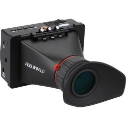 """FEELWORLD S-350 3.5"""" LCD Screen 2.5X Magnification SDI Electronic View Finder for DSLR Camera Video BMPCC BMPC BMCC GH4 FS7 A7S"""