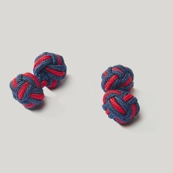 Navy And Sky Elastic Knot Cufflink found on Bargain Bro UK from harvieandhudson.com