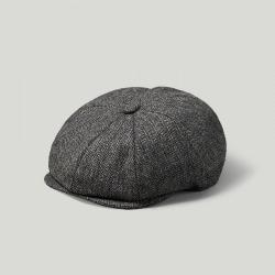 Grey Herringbone Tweed Baker Boy Cap found on Bargain Bro UK from harvieandhudson.com