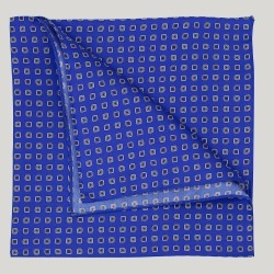 Blue Squares Silk Hank found on Bargain Bro UK from harvieandhudson.com