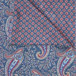Blue Double Sided Paisley Wool Scarf found on Bargain Bro UK from harvieandhudson.com