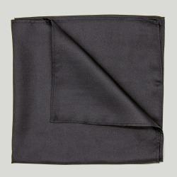 Black Plain Silk Handkerchief found on Bargain Bro UK from harvieandhudson.com