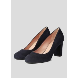 Sonia Suede Block Heel Court Shoes Navy found on Bargain Bro UK from Hobbs