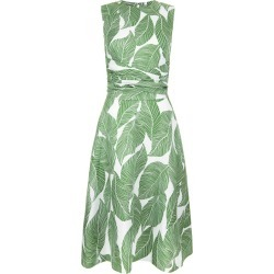 Twitchill Linen Dress Green Multi 8 found on Bargain Bro UK from Hobbs